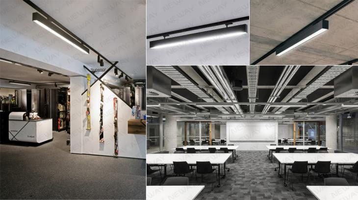 24w36w48w60w tracking linear led office track and rail