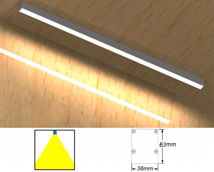 24w48w High Brightness Led Linear Light Surface Mounted Ceiling Light Wall Ceiling Surface