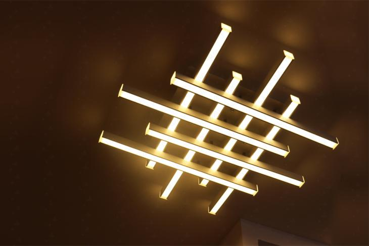 multi-group led linear ceiling light fixtures linear pendant ...