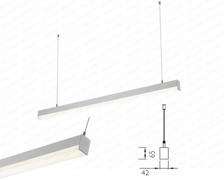22w 60w flat suspended luminaire led lighting 3000k 4000k for Suspente luminaire