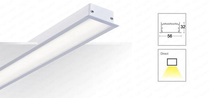 15w 60w linear led luminaire architectural linear recessed led lighting hospital lighting factory lighting shopping malls lighting various kinds of indoor lighting architectural lighting systems for commercial mozeypictures Choice Image