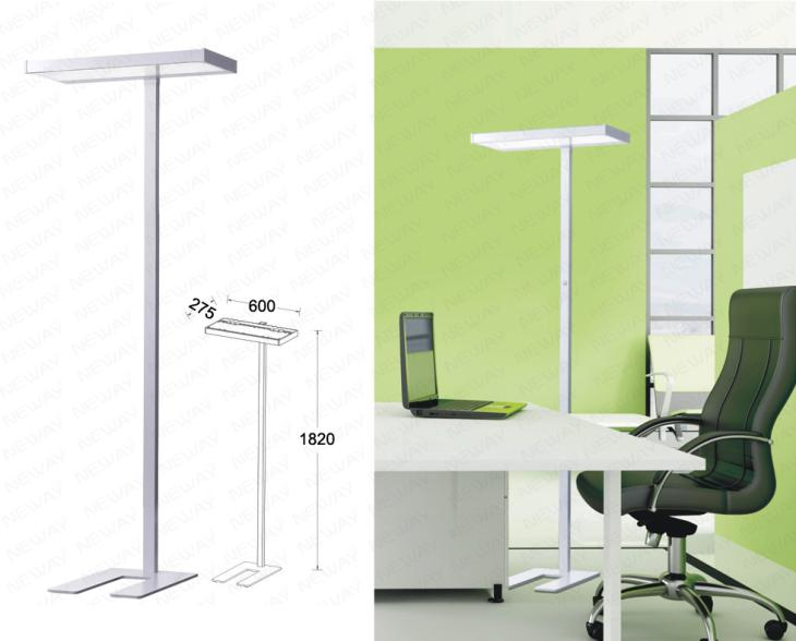 Direct indirect led floor lamp aluminium extruded led for Led floor lamps for office