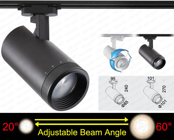 40w adjustable beam angle 20 to 60 degree led track lighting 40w adjustable beam angle 20 to 60 degree led track lighting specifications 01 brand neway 02 country of origin dongguan china aloadofball Image collections