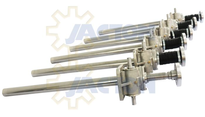 Jack Acme Rod : Jack screw actuator stainless right angle