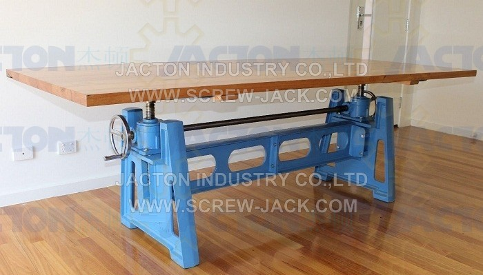 Hand Crank Table Lift Mechanism With Four Lifting Points Kits Pictures