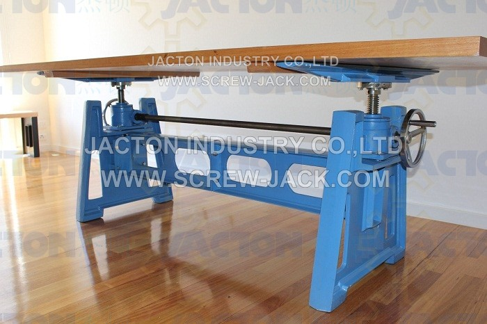 Manual Hand Crank Multiple Screw Jacks Lift Desk,crank