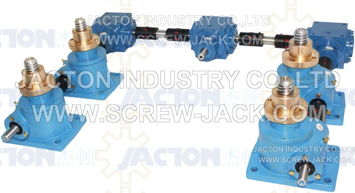 Gears To Lift Platform-linked Vertical Lead Screw Jacks,6