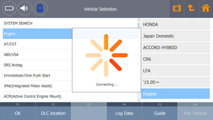 G-scan Tab System and DTC Auto Search