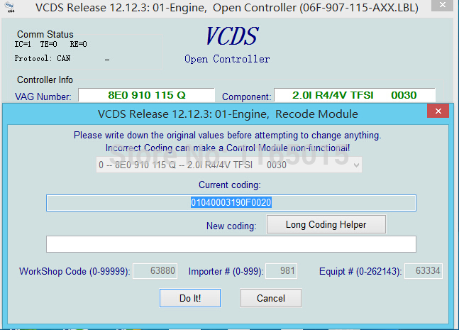 VAG COM 12 12 3 VCDS HEX CAN USB Interface FOR VW AUDI