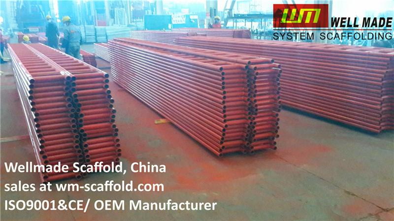 Scaffolding Steel Suppliers : Painting scaffolding steel ladder beam for construction